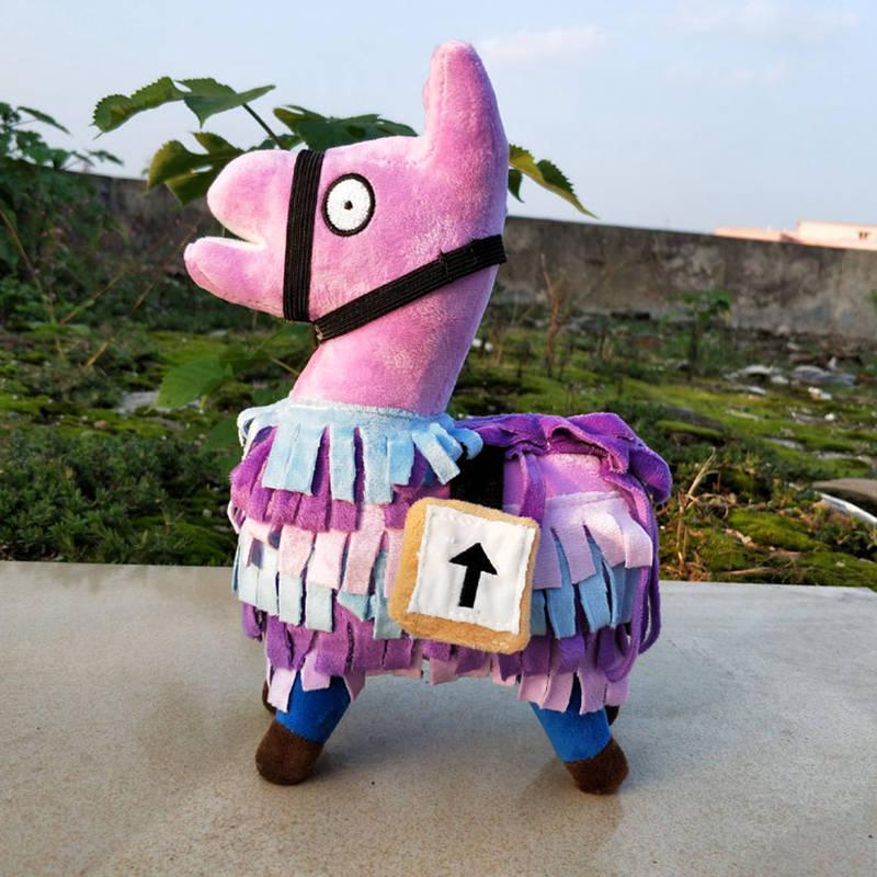 Fortnite Troll Stash Llama Plush 25cm Game Soft Alpaca Rainbow Horse