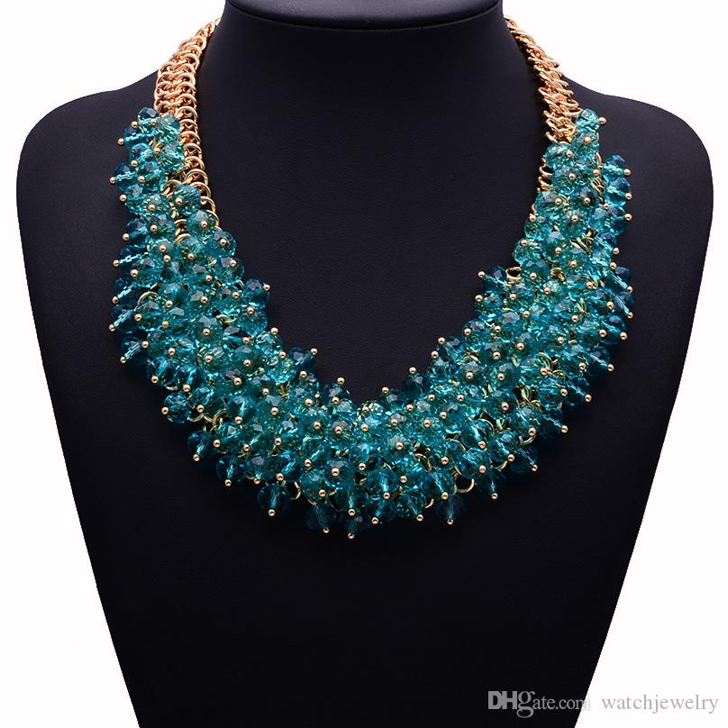 Vendita calda di alta qualità Z collana di moda XG134 collare bavaglino collane pendenti di cristallo grosso collana gioielli dichiarazione le donne