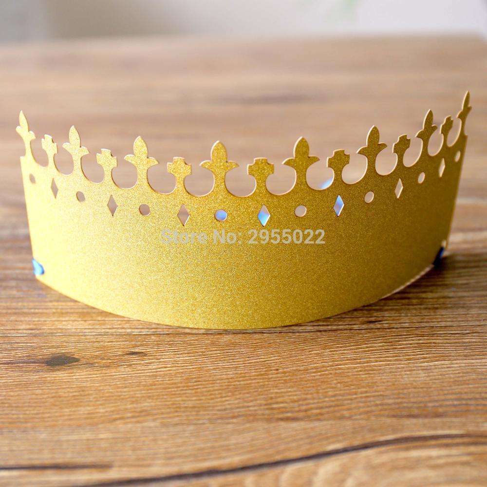 Glitter Gold Prince Cap, Little Prince Crowns Party Decor, Paper Cap ...