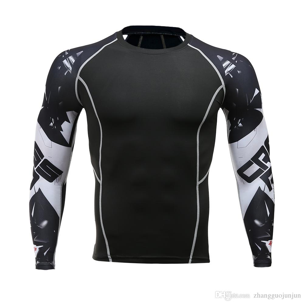 Compression t shirts men 3d Teen Wolf Jerseys Long Sleeve Shirt Fitness Lycra Quick drying Crossfit tights T-Shirts Hot Fashion