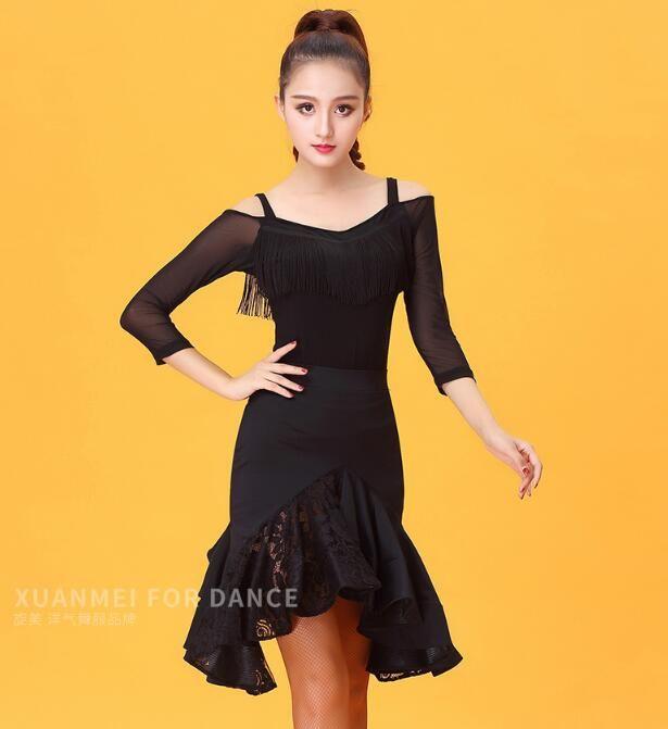 Latin Dance Tops For Women Latin Salsa Top Ballroom Dance Shirt Blouse Ice  Silk Competition Tops Cha Cha Rumba YE0215 UK 2019 From Layette66 504c97c29