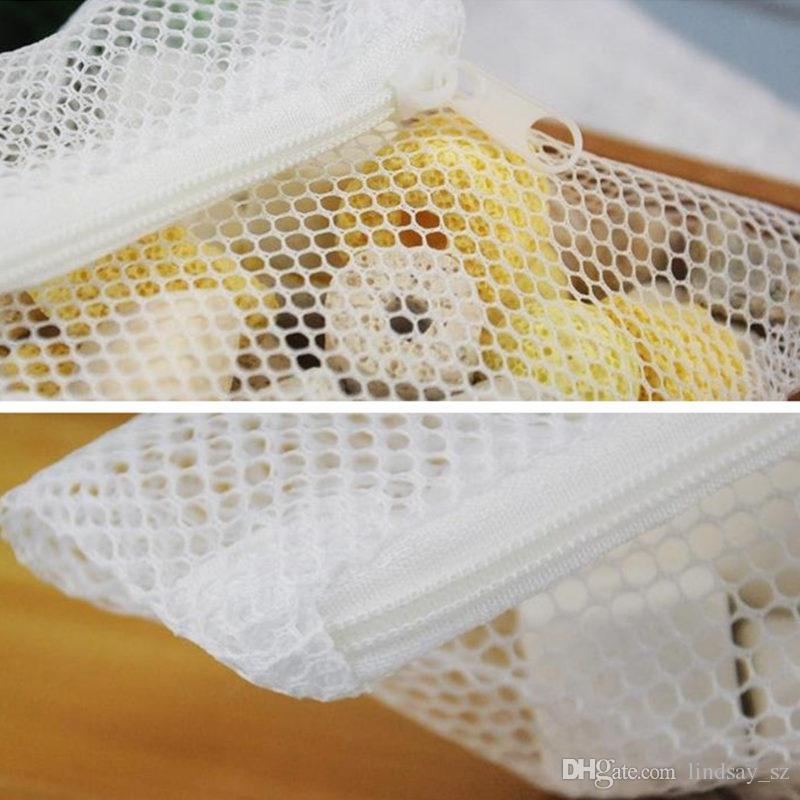 Weiß Aquarium Mesh Bag Aquarium Teich Filter Net Bag Für Medien Ammoniak Aquarium Isolation Bag F20173352