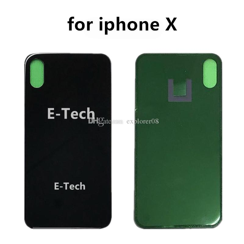 OEM for iPhone 8G 8Plus 8 Plus X Back Battery Cover Door Rear Panel Glass housing With Adhesive Sticker Replacement Parts DHL