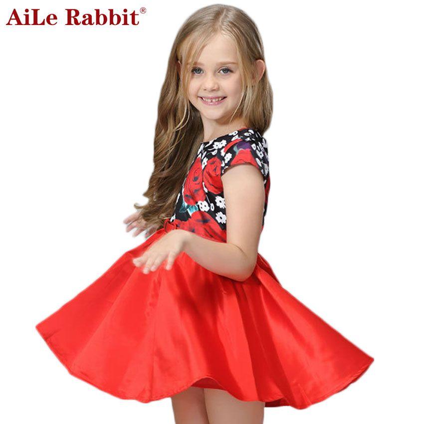 Compre AiLe Rabbit Vestidos Para Niñas + Cinturón Flor De Moda Vestido  Grande Princesa Ropa Infantil Niños Verano Salvaje A  9.57 Del  Aile rabbit store ... 687fbbb3d16