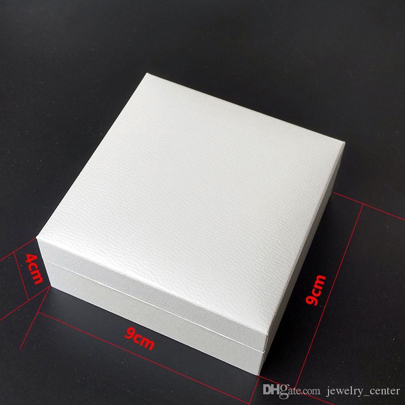 Fabrik Großhandel Weiße Schmuckverpackung Original Boxen für Pandora Armband Schwarz Samt Original Halsketten Ohrringe Anzeigen Schmuckschatulle