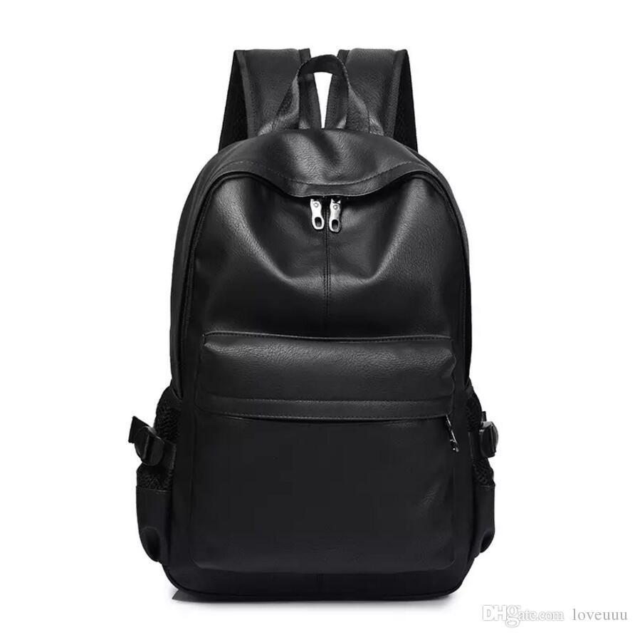 Compre Nueva Moda Para Hombre Mochila Para Hombre Backpacfor Adolescente  Diseñador De Lujo PU Mochila De Cuero Hombre Mochilas De Viaje De Alta  Calidad A ... a67b189ea872e