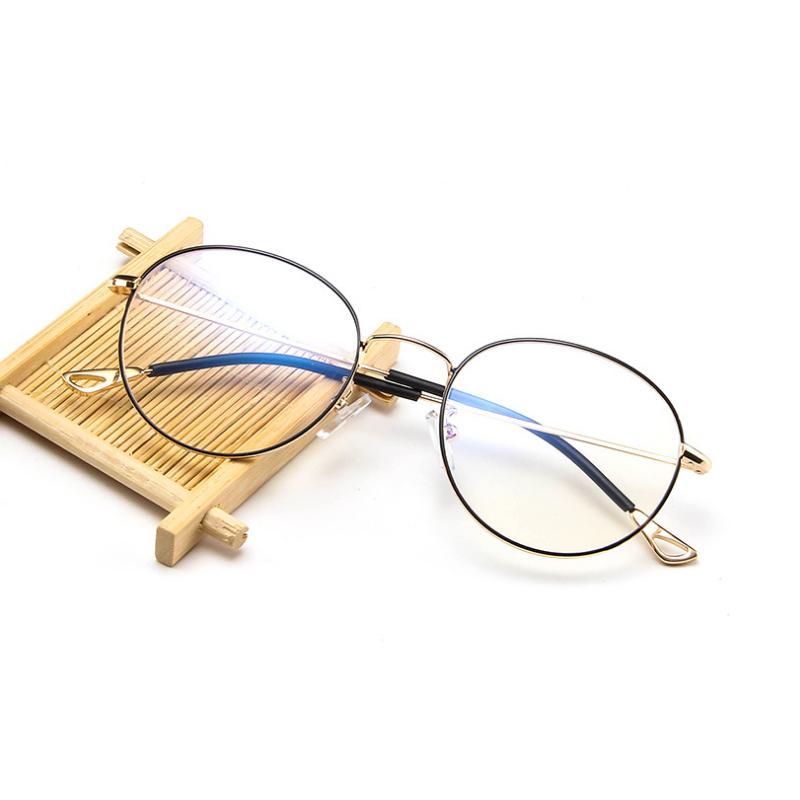 6b02b7f32b9 Metal Ultra-light Glasses Frame Retro Personality Glasses Students ...