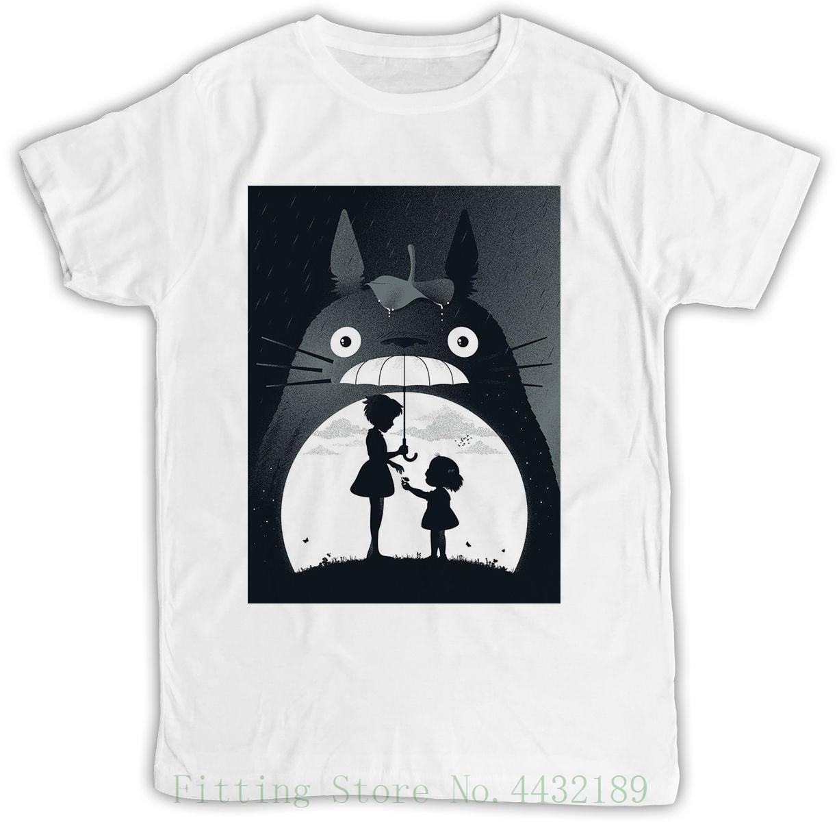 My Neighbor Totoro Poster Ideal Gift Birthday Present Cool Retro Funny T Shirt O Neck Teenage Vintage Cute Shirts From Aaa888tshirts