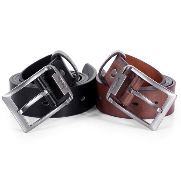 JU 14 Tienda de hadas 2016 Venta caliente Nuevo para hombre de cuero de una sola correa Cinturón de vestir de negocios informal hebilla de metal