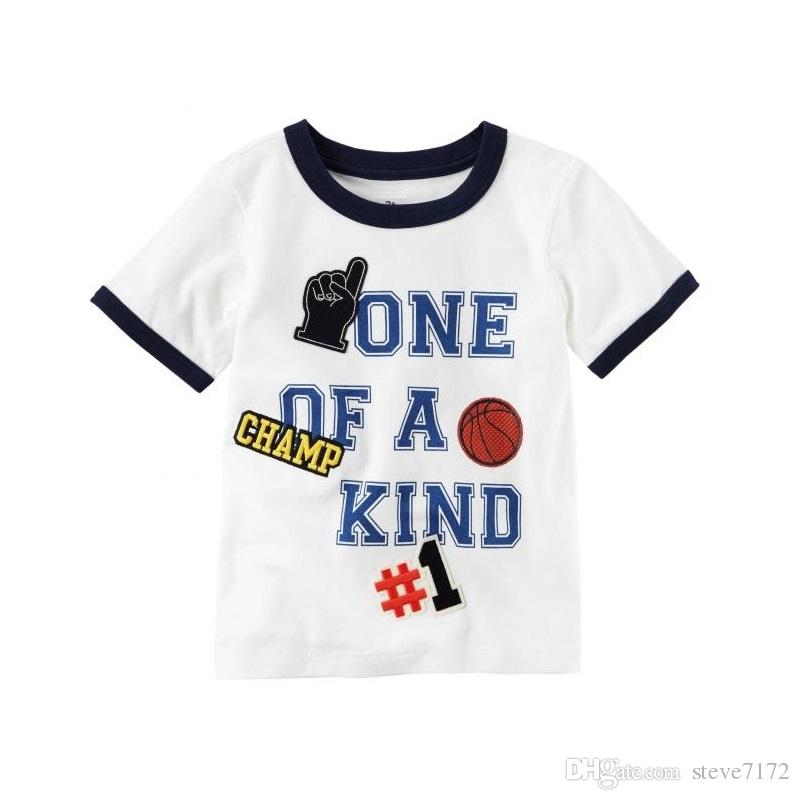 f97c49544cd6 2019 NO.1 Champion Baby Boys Tees Shirts Newborn Clothes Tops 100% Cotton  Summer Children T Shirt Toddler Blouse Kids Outfit Babywear Jerseys From  Steve7172 ...