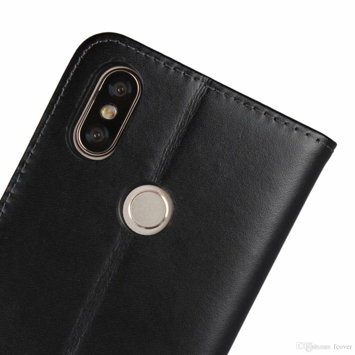 For Xiaomi Redmi Note 5 & Redmi S2/Mix 2S/Mi A2/Mi 6X Redmi K20 Pro Flip Case Genuine Leather Book Stand Protection Card Shell Wallet Cover