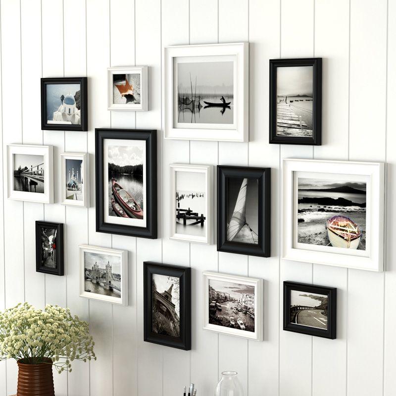 2018 Europe Wood Photo Frames Set Family Wall Decal Set, Home Room ...