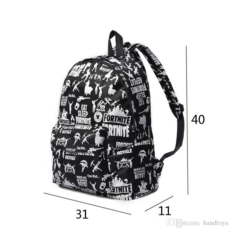 New released Fortnite Battle Royale Backpack Shoulder Bags Fortnite  Teenager Students School Bag Sports Casual Bags printed Backpacks