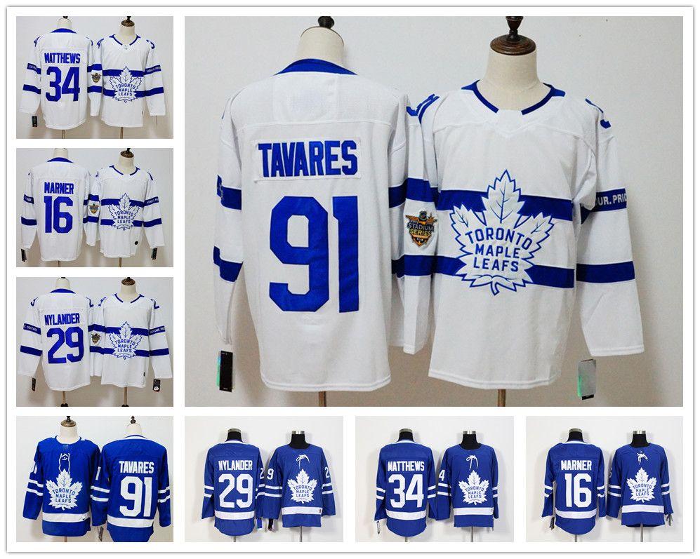 91 John Tavares A Patch MEN Toronto Maple Leafs 34 Auston Matthews ... 1ee732b00