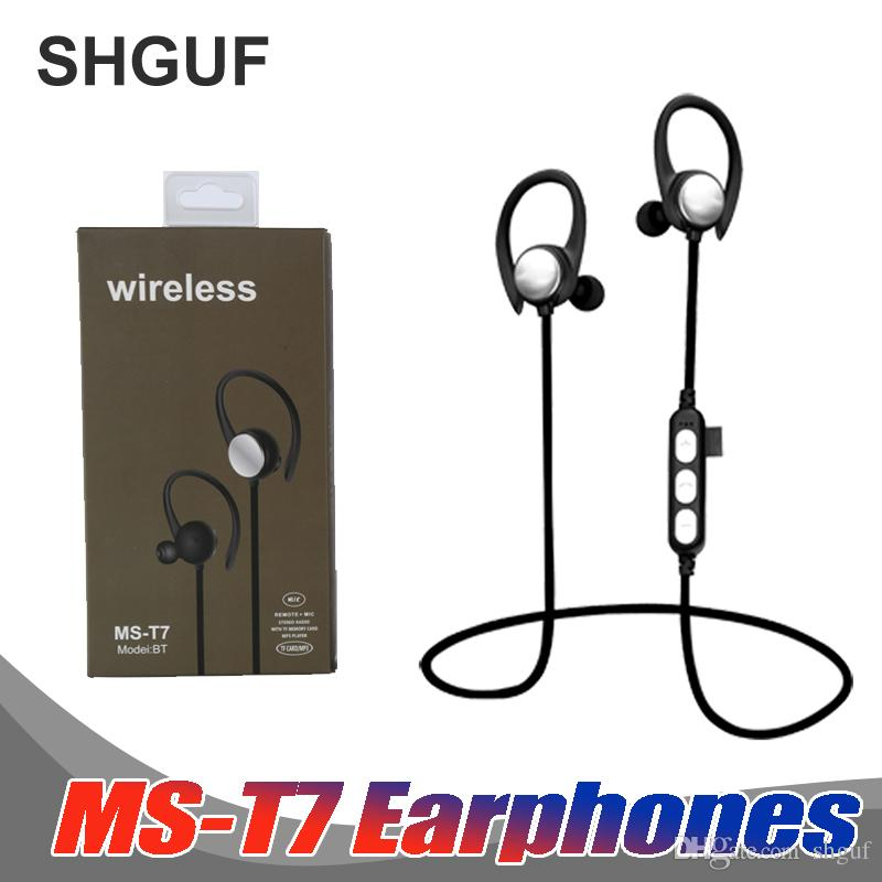 8fcf6f759a4 New MS T7 Bluetooth Earphone Sports Earphones Wireless Headset Super Bass  Headphone For IPhone Android Ipad Sumsung Xiaomi Baby Headphones Best Cheap  ...