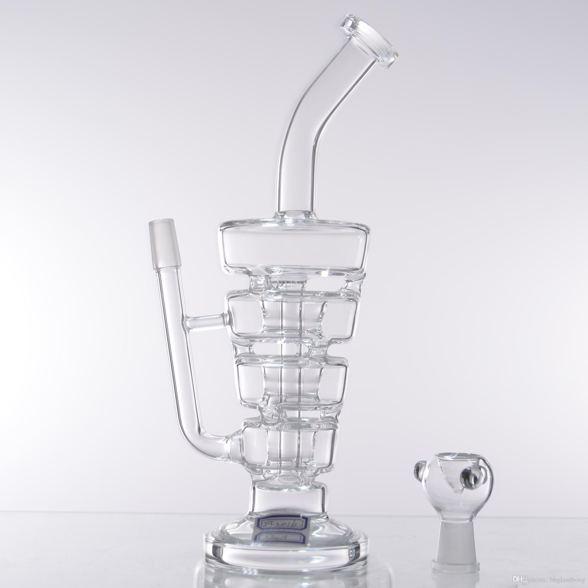 transparency 10.5 inch Glass bong oil rigs water pipes thick and sturdy glass with 14.5mm male joint