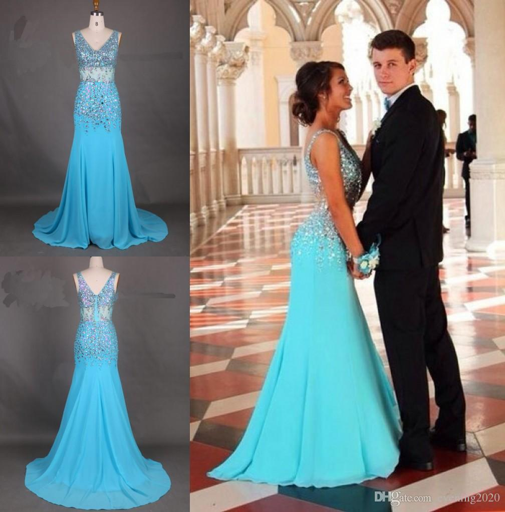 0463809944 Brilliant Mermaid Prom Dresses V Neck Sweep Train Special Occasion Dress  Popular Evening Dressesccasion Dress Popular Evening Dresses Short Dresses  Lace ...