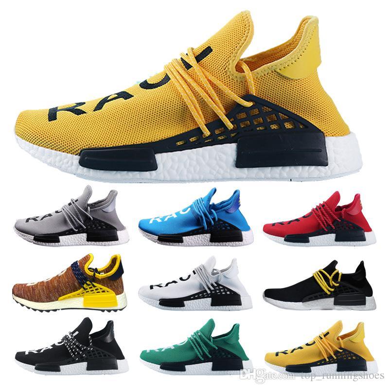 cf7316e7d 2018 Human Race Factory Real Yellow Red Green Black Orange Men Women  Pharrell Williams X Human Race Running Shoes Size 36 47 Best Shoes For Running  Sports ...