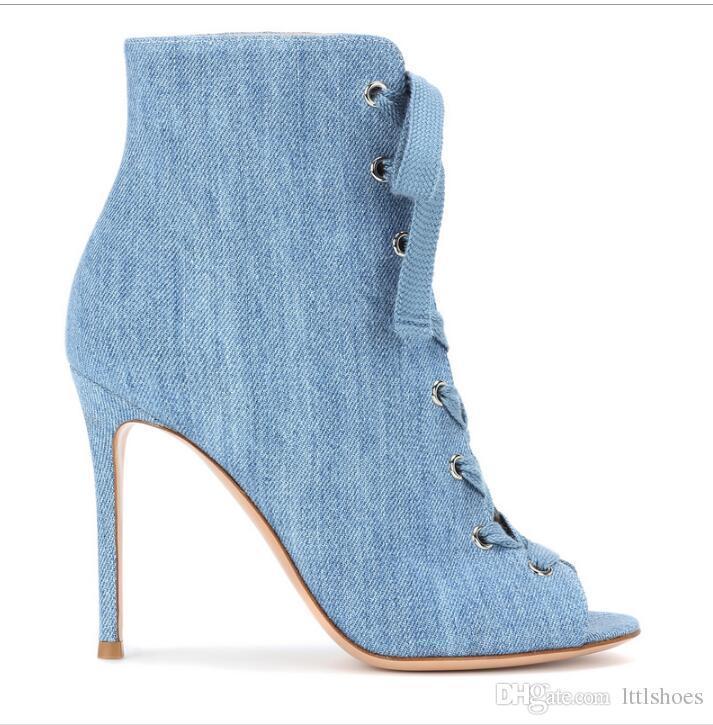 Acheter 2018 Peep Toe Rome Sandales Femmes Mince Talons Hauts Chaussures  Femme Mode En Cuir Cheville Bottes D été Croix Attaché Dames Pompes De   166.84 Du ... 8443977ead64