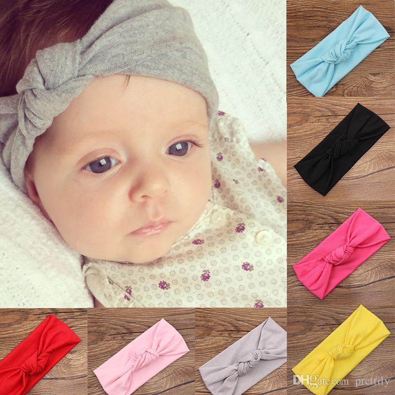 Newborn Turban Headband For Girl Hair Accessories Kids Tie Knot Headwrap  Summer Style Cotton Knotted Headband Gift Baby Girl Hair Accessories Girl  Hair ... 28a0421a798