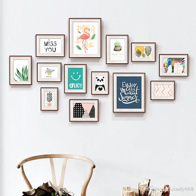 2018 Plant Pattern Photo Frames Set For Home Decor Picture Frame ...