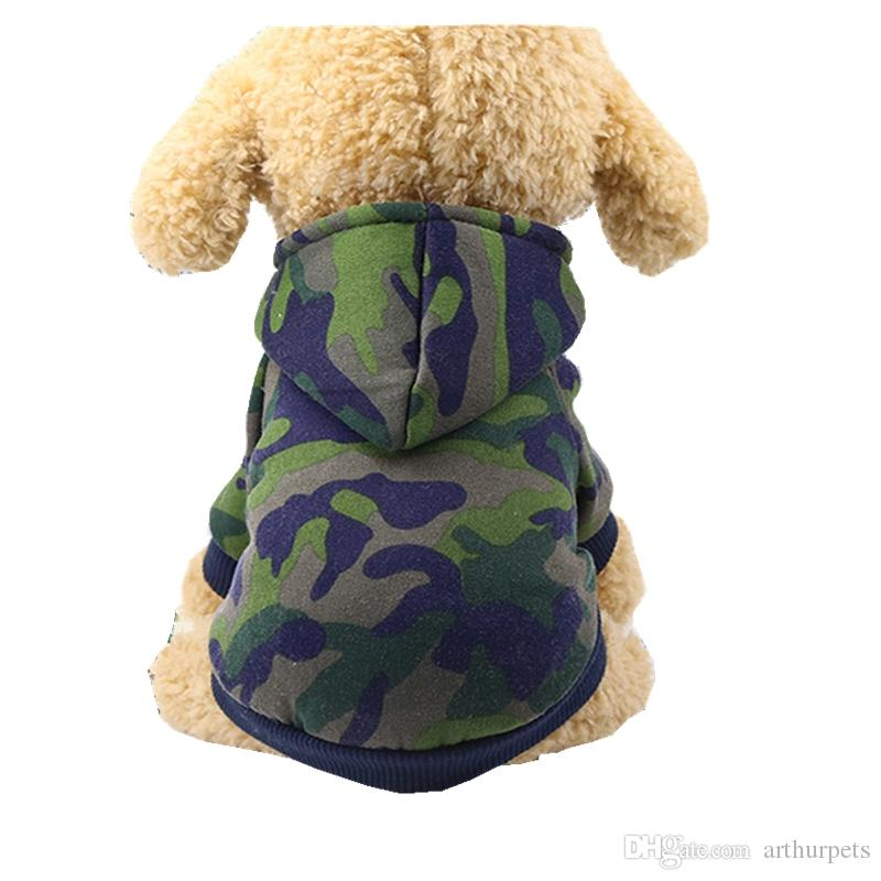 Dog Coats & Jackets Fashion Small Pet Dog Hoodie Clothes Fashion Costume Mini Puppy Teddy Cotton Blend Round Neck T-shirt Apparel With Hat