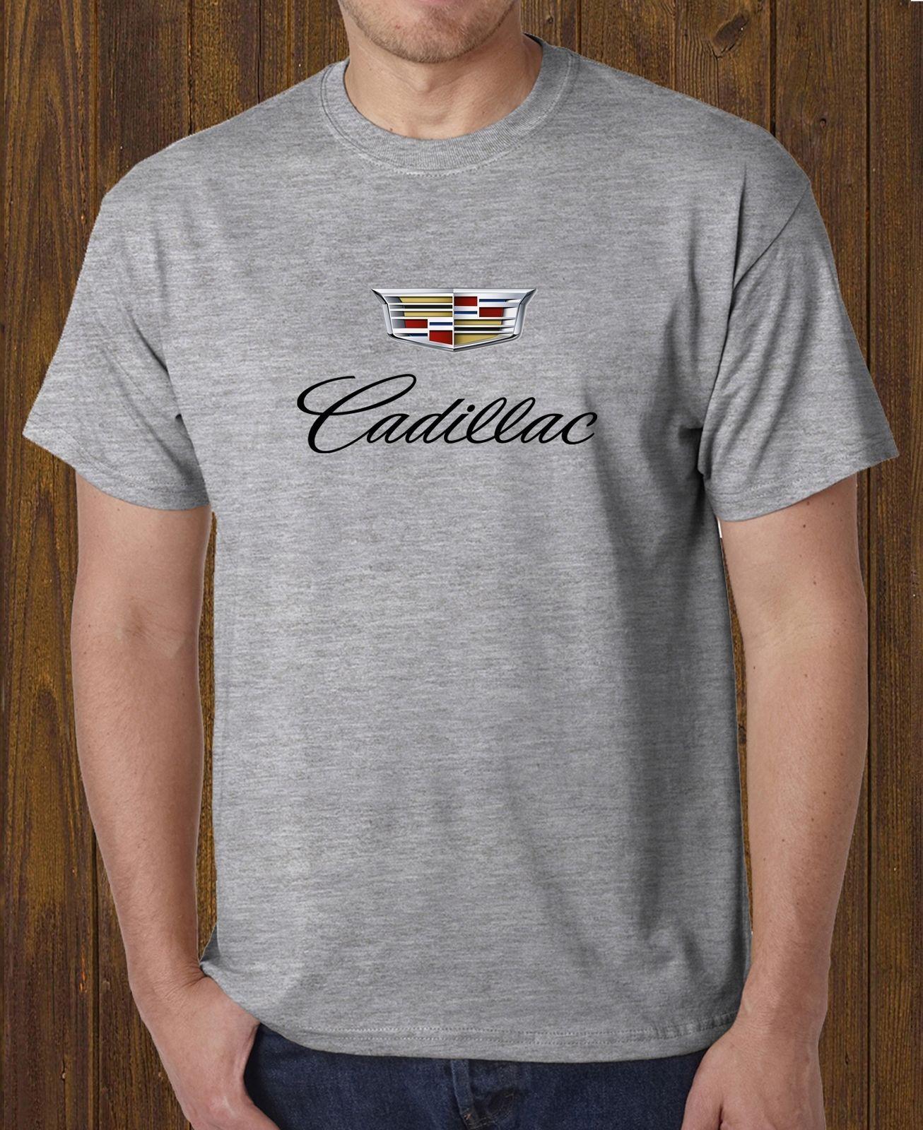 Cadillac Cars Logo Black T Shirt White Grey Men S Tee Size S 3xl Buy