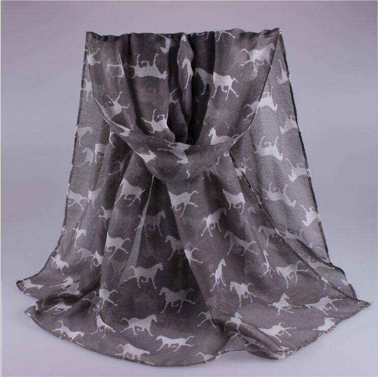 12 stücke seidenschal Animal print schal für frauen neue wintermode pferd gedruckt schals schals großhandel hohe qualität 180 * 90 cm 12 farben