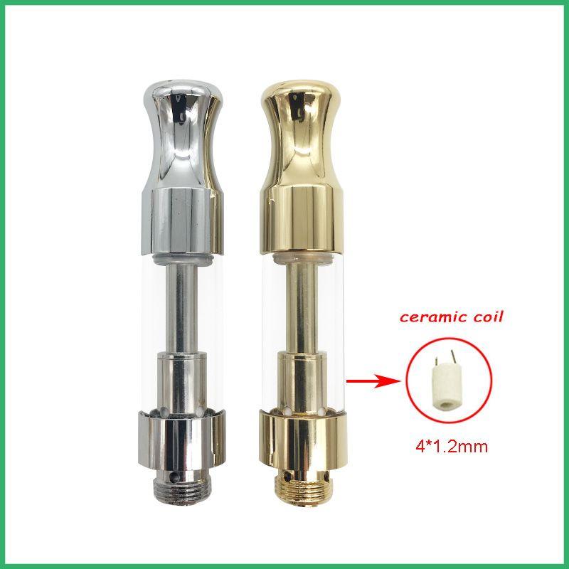 2018 nuevo diseño venta caliente más corto punta corta 92A3 bobina de cerámica atomizador lleno lleno 0.5ml 1.0ml 100% sin fugas cuatro agujeros de aceite cartucho de vidrio