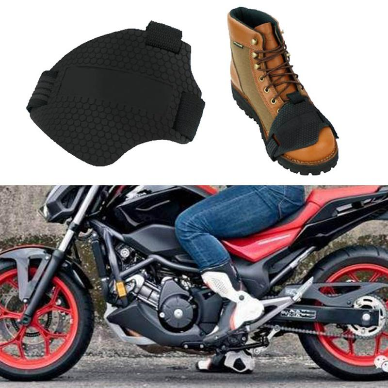 Wear Resisting Rubber Motorcycle Gear Shift Pad Riding Shoes Scuff