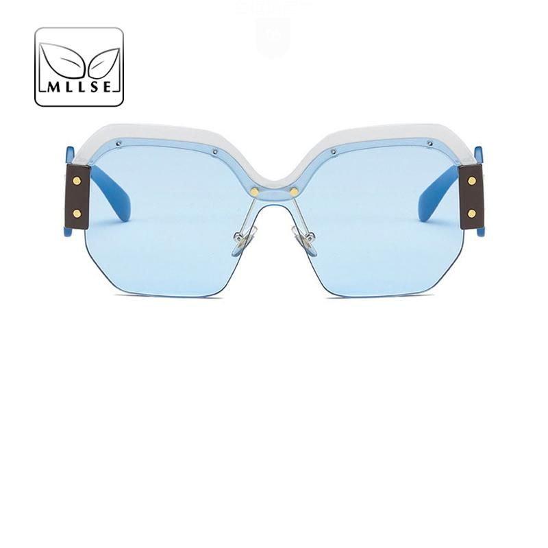 2c2970f1b4367 Compre MLLSE Marca Neutro Óculos De Sol Para As Mulheres E Os Homens Grande  Quadro Vintage Elegante Personalidade Moda UV400 Unisex Olho Desgaste De ...