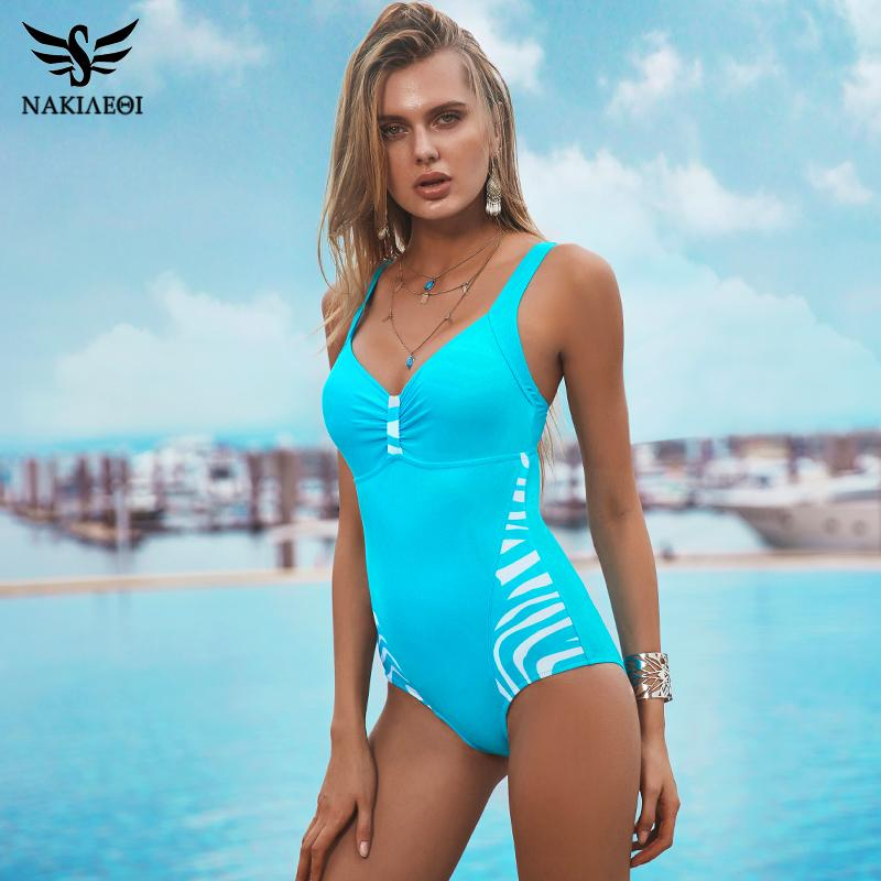 8e63bfb722d4f Wholesale-NAKIAEOI 2017 New One Piece Swimsuits Plus Size Swimwear ...