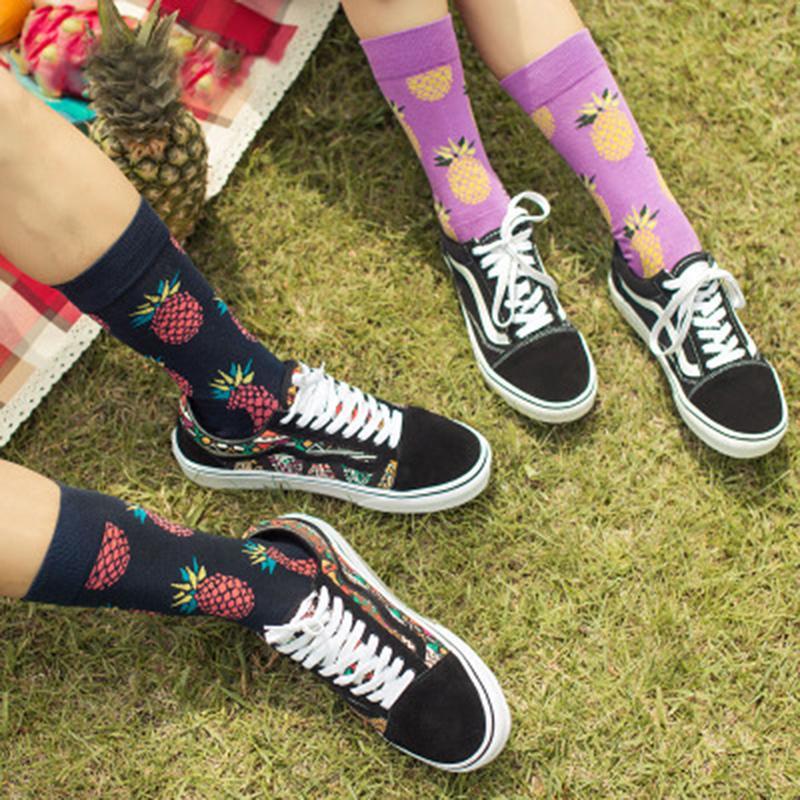 c2c396b5a 2019 2018 Happy Socks Fruit Series Socks For Women Men Personalized Cotton  In The Tube Cherry Lemone Pattern Unisex Autumn Sock From Candd