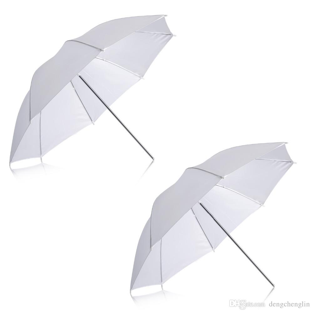 "2 Pack 33""/84cm White Translucent Soft Umbrella for Photo and Video Studio Shooting"