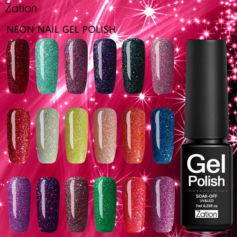 Zation Product Nails Primer Neon UV Gel Nail Polish Soak Off UV ...