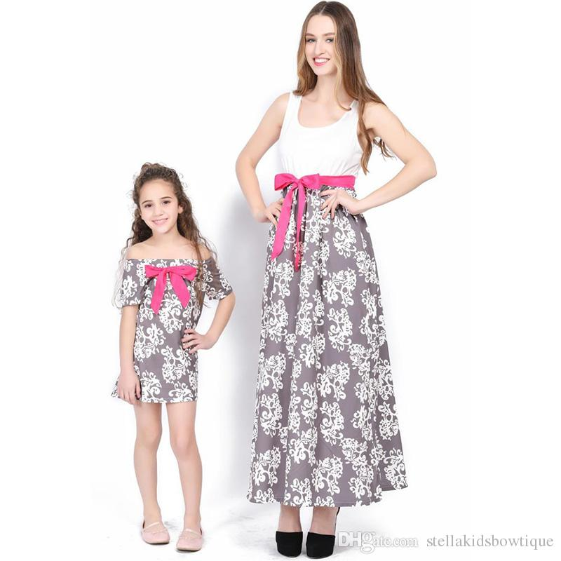 Mother and daughter cloth-3772