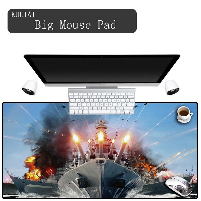 KULIAI Future Warships Game Gamer Mouse Pad Rubber Large Size Rectangle  Player Gaming Laptop Keyboard MousePad for Gta Gta V Mat