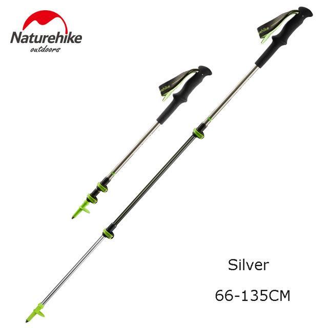 Naturehike Carbon Fiber + Aluminum Alloy Walking Stick Pole Lightweight  Camping Hiking Stick Cane about 185g / pcs