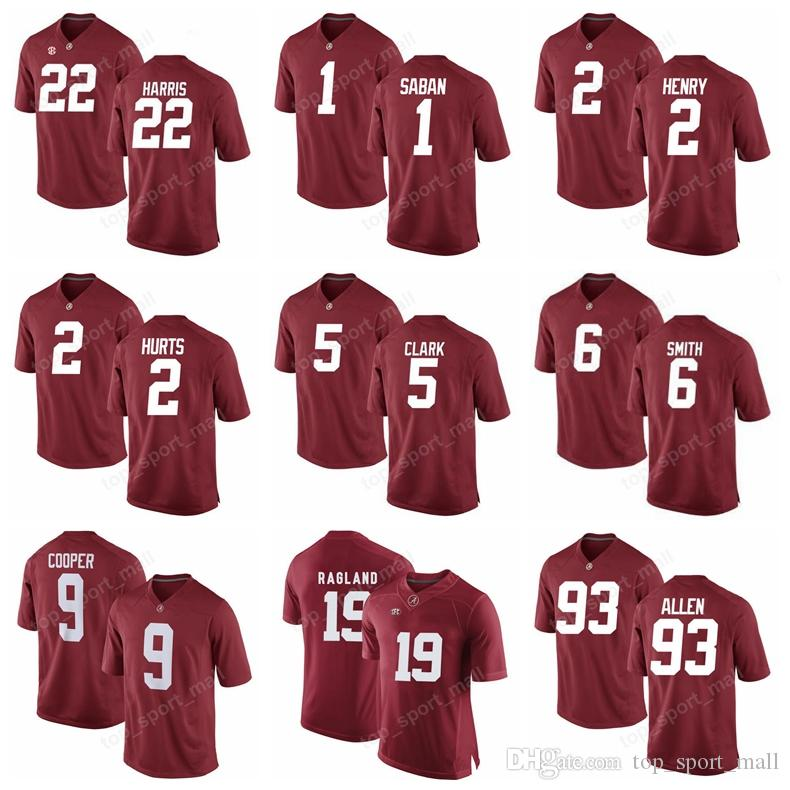 debf8845beb 2019 Make Custom Alabama Crimson Tide 22 Mark Ingram Jersey Man Kids  College Football 42 Eddie Lacy Kenyan Drake Natl Champions Cooper Bateman  From ...