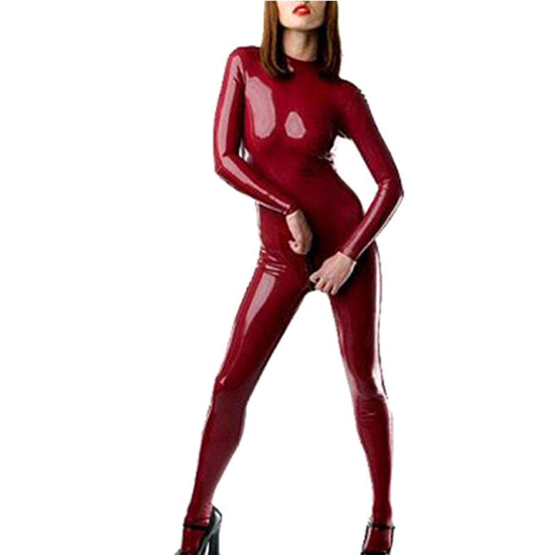 946c45eec08a 2019 Latex Catsuit For Women Second Skin One Piece Plus Size Rubber  Bodysuit With Socks Adult Costume LC004 From Cagney
