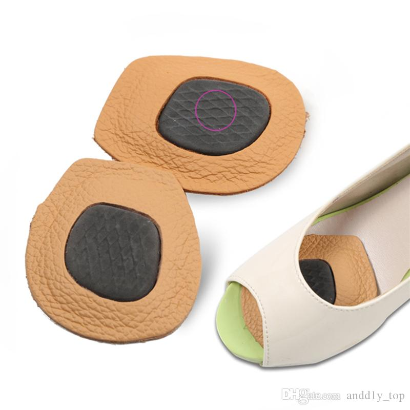 Leather Forefoot cushion Anti-slip insoles palm pad women high heel peep-toe shoe pad Non-slip Half yard pad with retail package