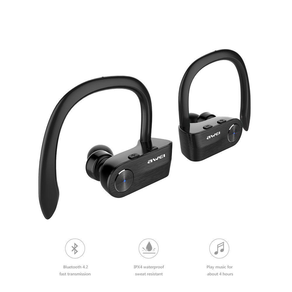 479f8c6b9f8 AWEI 2018 NEW T2 TWS Bluetooth Earphone Mini Bluetooth V4.2 Headset Double  Wireless Earbuds Cordless Headphones Separate Binaural Bluetooth Bluetooth  ...