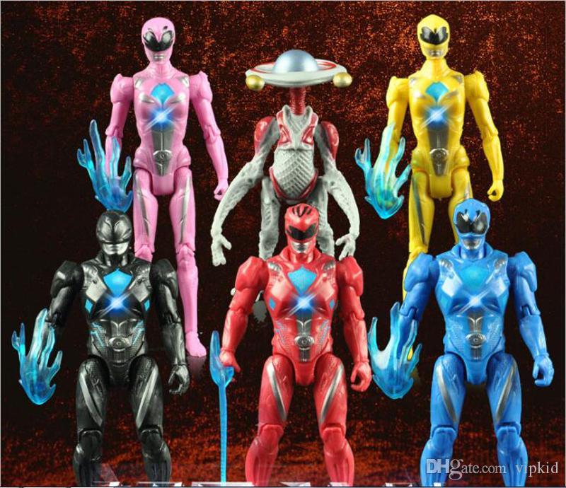 Acquista Set Power Ranger Model Regali Action Figures Bambole Con