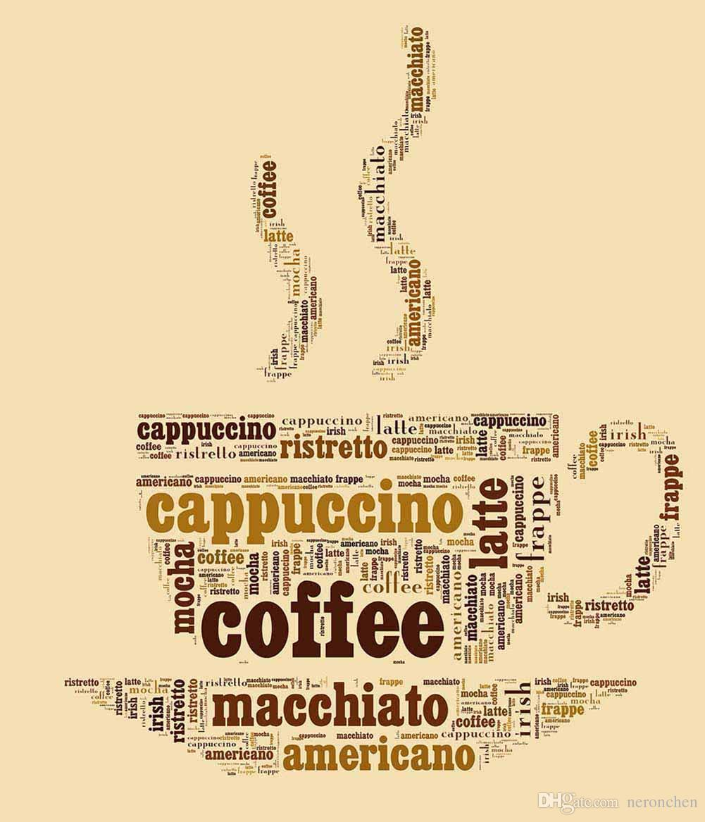 2018 Canvas Wall Art Print Rolled Coffee Cup I Word Art Poster ...