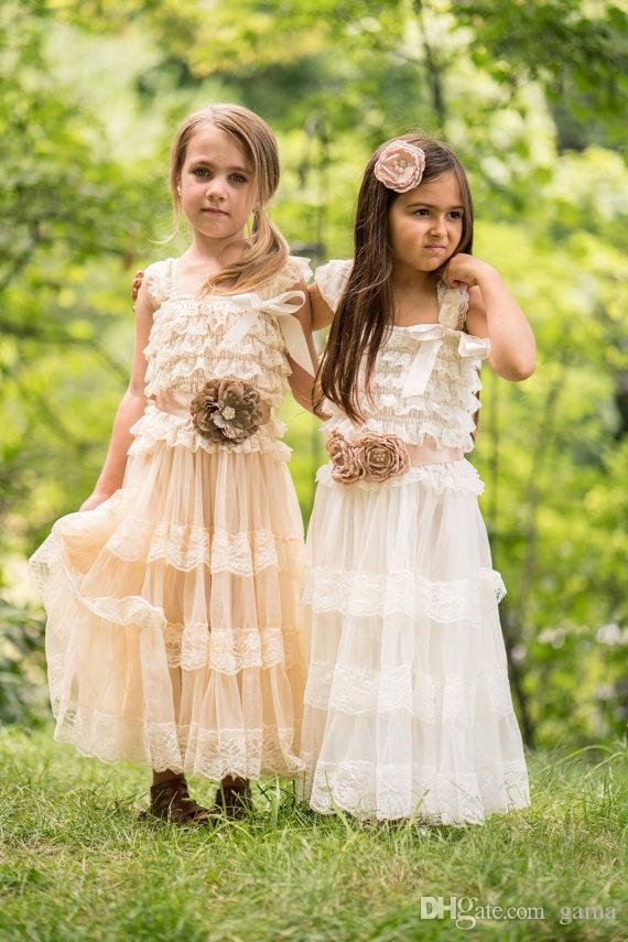 f046c2cad5fe Rustic Country Flower Girl Dress With Lace Trims Flower Girl Dresses  Brisbane Flower Girl Dresses Purple From Gama, $50.26| DHgate.Com