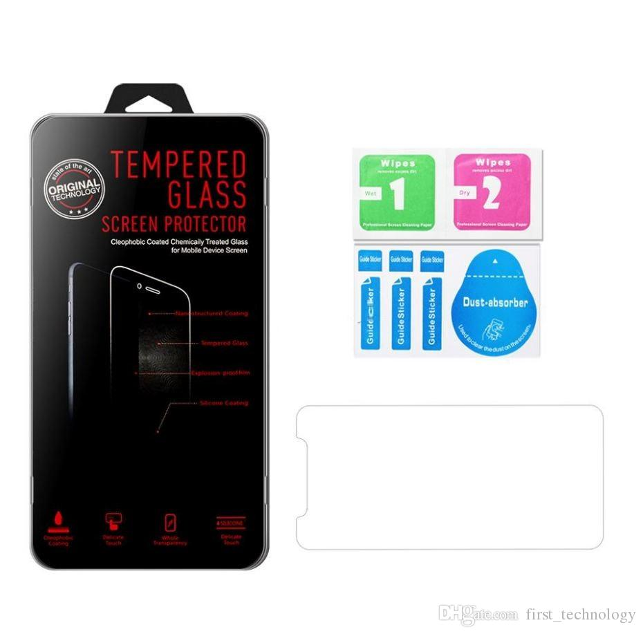 Tempered Glass screen Protector for iPhone 12 11 PRO MAX XS XR Samsung A20 A10E Moto G7 Power Moto E6 Z4 LG Stylo 6 K40 With Retail Package