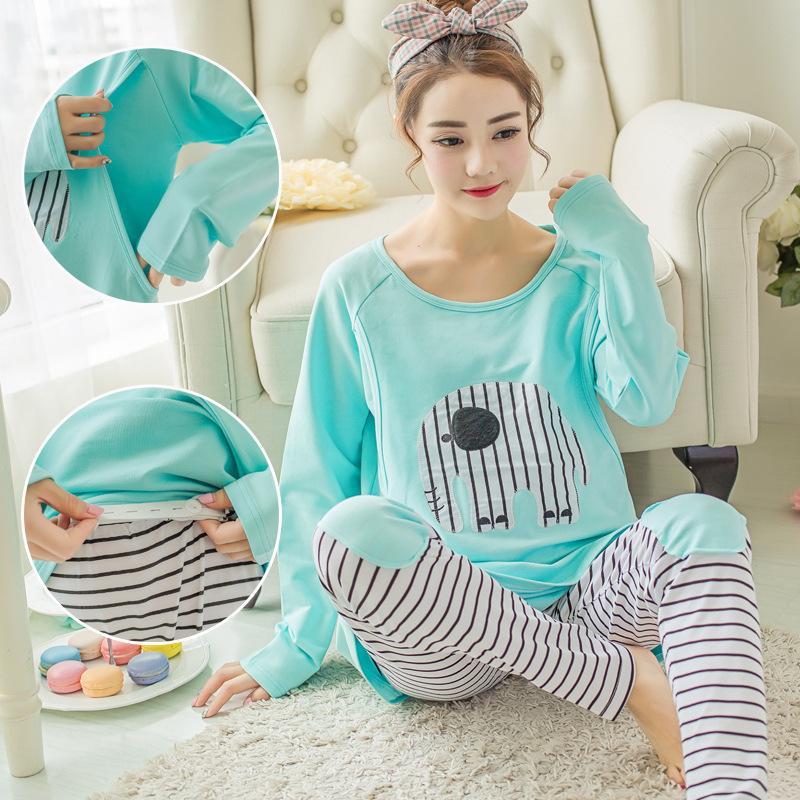 af7de246be 2019 Breastfeeding Pajamas Breast Feeding Nightwear Maternity Nursing Pajama  Sets Maternity Nursing Sleepwear Pregnancy Pyjama Cotton From Bradle