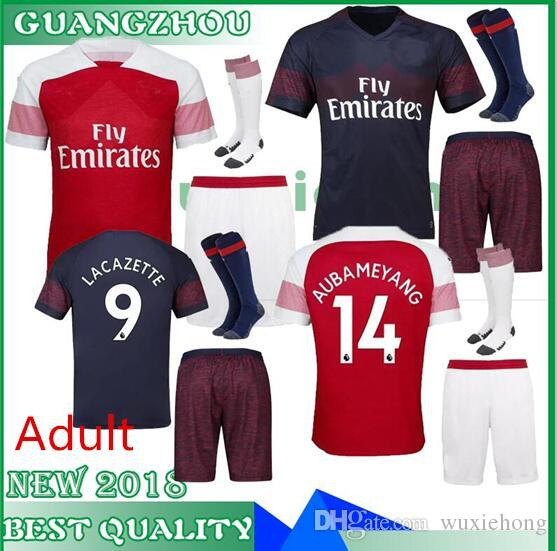 2019 18 19 Arsenal AUBAMEYANG LACAZETTE ADULT KIT Soccer Jerseys SHORTS  SOCKS Home 10 OZIL MKHITARYAN 2018 XHAKA RAMSEY Away MEN Football Shirts  From ... 087845637