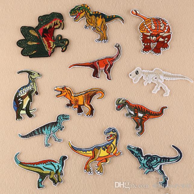 Großhandel Dinosaurier Gestickte Patches Zum Nähen Bag Kleidung ...