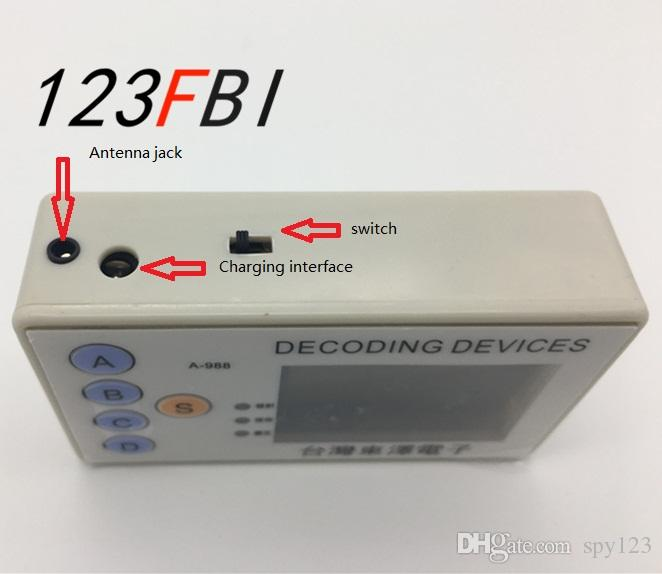 Remote Controller Decoder with Clone 4 in1 Custom 433MHZ 5000m Distance  Scan Launch Unlock Locked Find Car Code reader and scanner